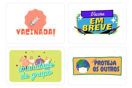 Stickers de vacinação