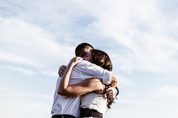 Um casal enamorado